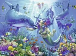 Ravensburger Kinderpuzzle 13678 - Leuchtendes Unterwasserparadies 200 Teile XXL - Puzzle für Kinder ab 8 Jahren - Leuchtet im Dunkeln