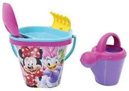 Aiman – Sandeimerset Set Minnie Mouse – 5 Teiliges Set, mit Eimer, Gießkanne, Sieb, Schaufel, Rechen, Sandkasten Spielzeug, Sandelspielzeug, Strandspielzeug, Spielzeug, Sandspielsachen