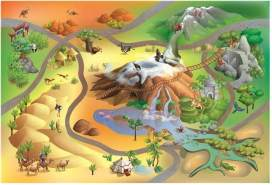 House Of Kids 11222-E3 - Playmat Quadri Savane Connect, 100 x 150 cm