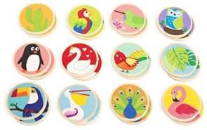 Small Foot 11285 Holz Memo Tiere der Welt, FSC 100%-Zertifiziert, mit 24 bunten Holzspielkarten Spielzeug, Mehrfarbig