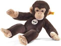 Steiff Koko Schimpanse - 35 cm - Kuscheltier für Kinder - Plüschaffe - weich & waschbar - dunkelbraun (064722)