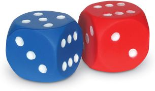 "Learning Resources LER2228 Foam Dot Dice"" – Schaumstoff-Punktewürfel"