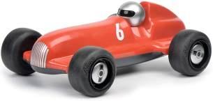 Schuco 450987100-Studio Racer Red-Enzo #6, my1stSchuco, Spielauto für Kinder ab 1 Jahr, Rennwagen Spielzeug ab 12 Monaten, rot/schwarz