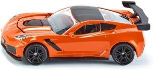 SIKU 1534, Chevrolet Corvette ZR1, Orange/Schwarz, Öffenbare Motorhaube, Spielzeugfahrzeug für Kinder