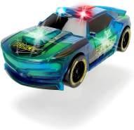 Dickie Toys Lightstreak Police, leuchtendes Polizeiauto, Rennauto mit Friktionsantrieb, Licht & Soundwechsel, Polizeiwagen, inkl. Batterien, 20 cm, blau