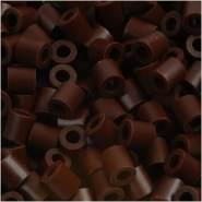 Nabbi Schmelzperlen aus Kunststoff, Plastik, Middle Brown, 1100-Piece