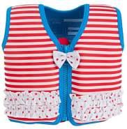 Konfidence Jacket Kinder Schwimmweste Schwimmhilfe Neopren Marthas Red Stripe Frills 6 - 7 Jahre