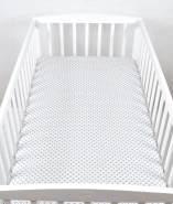BABYLUX Spannbetttuch 70 x 140 cm Baby SPANNBETTLAKEN Baumwolle Kinderbett 106. Marokko Grau