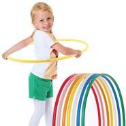 hoopomania® Kinder Hula Hoop Reifen, Durchmesser 70cm in gelb