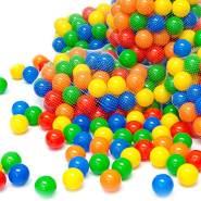 50 bunte Bälle für Bällebad 5,5cm Babybälle Plastikbälle Baby Spielbälle