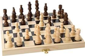 Small Foot 2044 small foot 2044 Schachspiel aus Holz, hochwertige Ausführung, aufklappbare Holzkassette mit 32 Schachfiguren ,
