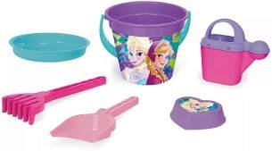 Wader 77937 Eimergarnitur Disney Frozen mit Eimer, Sieb, Wasserkanne, Schaufel, Rechen und Sandform, 6 teilig, bunt