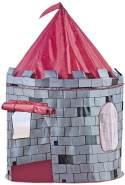 Bino & Mertens 82809 - Spielzelt Burg, bunt, aus PES-Material gefertigt, Kinderspielzeug, schnell auf, wieder abgebaut und platzsparend verstaut. Größe ca. 105x105x125 cm.