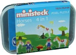 Ministeck 32579 - Pferdestall 4in1, ca. 510 Teile