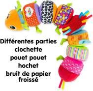 Lamaze 'Softes Raupenpuzzle' Babyspielzeug zur Förderung der motorischen Fähigkeiten – Buntes Lernspielzeug aus mehreren Elementen zum Heranführen an Farben – Ab 6 Monate