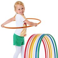hoopomania® Kinder Hula Hoop Reifen, Durchmesser 60cm in orange