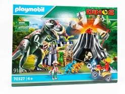 Playmobil Dinos 70327 'T-Rex Dinosaurier mit Vulkanausbruch und Figuren', 91 Teile, ab 4 Jahren