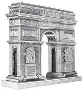 Fascinations Metal Earth ICX005 - 502886, Arc de Triomphe, Konstruktionsspielzeug, 2 Metallplatinen, ab 14 Jahren