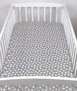 BABYLUX Spannbetttuch 60 x 120 cm Baby SPANNBETTLAKEN Baumwolle Kinderbett 95. H