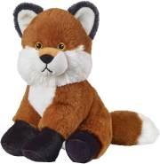 Bauer Spielwaren I Like My Planet - Fuchs: Kuscheltier aus softem Plüsch, hergestellt aus recycelten PET-Flaschen, 100 % recycelt, sitzend, 20 cm, braun (12927)