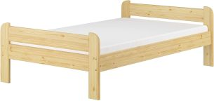 Erst-Holz Breites robustes Einzelbett 120x200 Kiefer massiv V-60.39-12 Rollrost und Matratzen inkl.