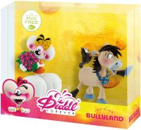 Bullyland 43467 - Spielfigurenset, Diddl Forever, Diddlina mit Blumen und Diddl-Pferd