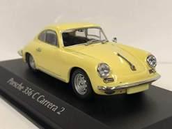 Minichamps 940062361 Maxichamps-1:43 1963 Porsche 356 Carrera 2-gelb