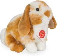 Hermann Teddy 93723 Kuscheltier Hase sitzend 20 cm Hellbraun - weiß gescheckt Plüschtier Stofftier Kinder Baby Spielzeug Plüsch