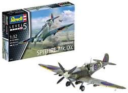 Revell Modellbausatz Flugzeug 1:32 - Supermarine Spitfire Mk.IXc im Maßstab 1:32, Level 5, originalgetreue Nachbildung mit vielen Details, 03927
