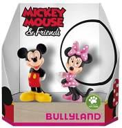 Bullyland 15083 - Spielfigurenset, Disney Micky und Minnie in Geschenk Box, 2 teilig, liebevoll handbemalte Figuren, PVC-frei, tolles Geschenk für Jungen und Mädchen zum fantasievollen Spielen