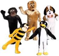 Foxxeo 10855 | Maskottchen Promotion Lauf Kostüm Gorilla Hund Biene Löwe Pinguin Gr. 170-190 cm, Maskottchen:Bienenkostüm