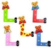 Brink Holzspielzeug Buchstabe: 'L' - 1 Stück, zufällige Auswahl, keine Vorauswahl möglich