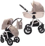 Friedrich Hugo PCS_MANDALA-2IN1-AIR-N12 Mandala, 2 in 1 Kombi Kinderwagen Luft, Latte Macchiato, beige
