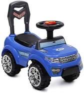 Rutscher, Kinderauto Tiger Range mit Musik, Licht, Hupe, Staufach im Sitz (Blau)