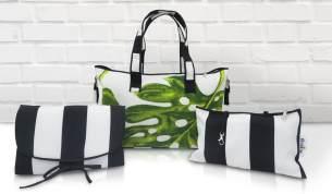 Belily-World Tropica Shopper Bag - Wickeltasche Set