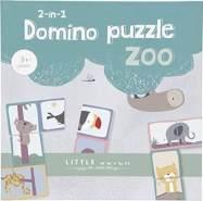 Tiamo Little Dutch 4449 Domino Puzzle Zoo 2-in-1 Spiel