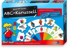 Noris 606076151 - ABC Karusell, Puzzles, Kinderspiel