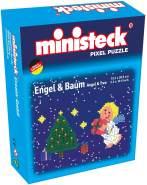 Ministeck 32561 - Box Engel und Baum, mehrfarbig