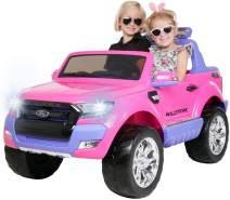 Kinder Elektroauto Ford Ranger Wildtrak 4x4 Kinderauto Elektrofahrzeug Elektro (Pink)