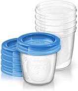 Philips Avent Aufbewahrungsbecher für Muttermilch, 5er Pack (5x 180 ml), SCF619/05, mit Schraubdeckel