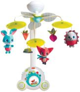 Tiny Love Baby-Mobile, hochwertiges 2-in-1 Musik-Mobile mit 18 wundervollen Melodien und 40 Min. Spieldauer, auch als tragbare Musik-Box nutzbar, Baby-Spieluhr ab der Geburt (0M+), Meadow Days