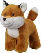 Bauer Spielwaren I Like My Planet - Fuchs: Kuscheltier aus softem Plüsch, hergestellt aus recycelten PET-Flaschen, 100 % recycelt, stehend, 15 cm, braun (12916)