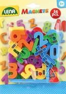 Lena 65747 Magnet Zahlen und Zeichen, ca. 3 cm, 36 Stück