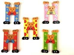 Brink Holzspielzeug Buchstabe: 'H' - 1 Stück, zufällige Auswahl, keine Vorauswahl möglich