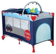 BabyGo Reisebett Sleep Well mit 2. Ebene Cool Car