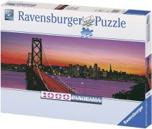 Ravensburger - Panorama - San Francisco, Oakland Bay Bridge bei Nacht, 1000 Teile