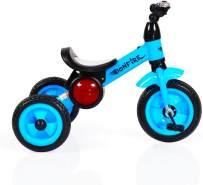 Dreirad Bonfire mit Eva-Reifen, Trittbrett, Musik, Licht, Fahrradklingel (Blau)