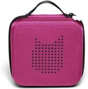 Tonies 'Tonie-Transporter' Transporttasche Beere, Box zur Aufbewahrung von bis zu 20 Tonies Hörfiguren, leicht, abwaschbar, Reißverschluss, 17,5 x 17,5 cm