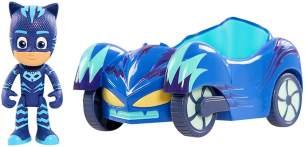 Simba 109402084 - PJ Masks Catboy mit Katzenflitzer / mit Superhelden Action Figur / Fahrzeug 15cm groß / Figur 8cm groß, für Kinder ab 3 Jahren