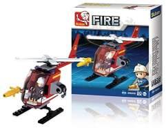 Sluban M38-B0622D Feuerwehrhubschrauber, 77-teilig, Mehrfarbig